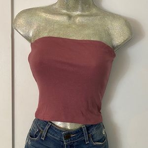Lot of 2 crop tops pink black soft and sexy basic